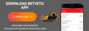 Betyetu app download for Android.